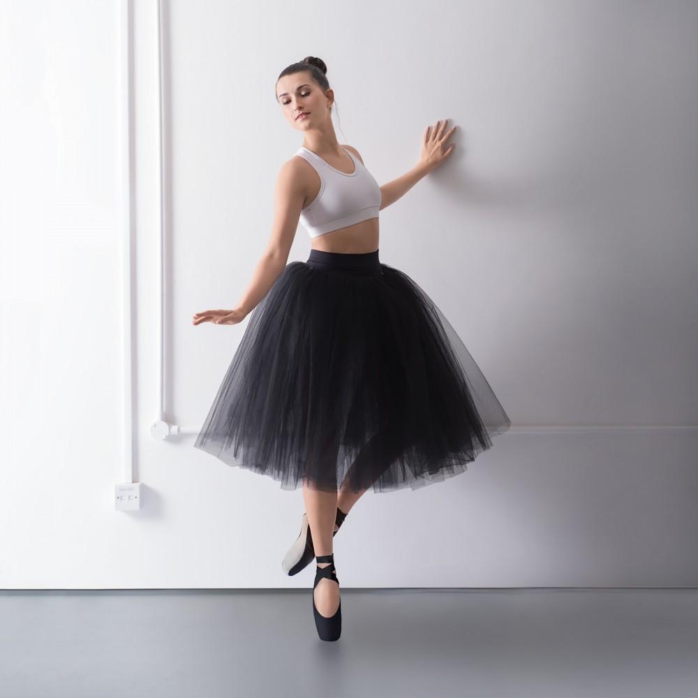 a06abdc489 1st Position Prestige Romantic Tutu Skirt on Pants. Black. White