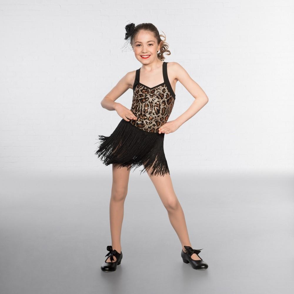 5bfbfc4f63db 1st Position Leopard Sequin Fringe Glitz - IDS: International Dance ...