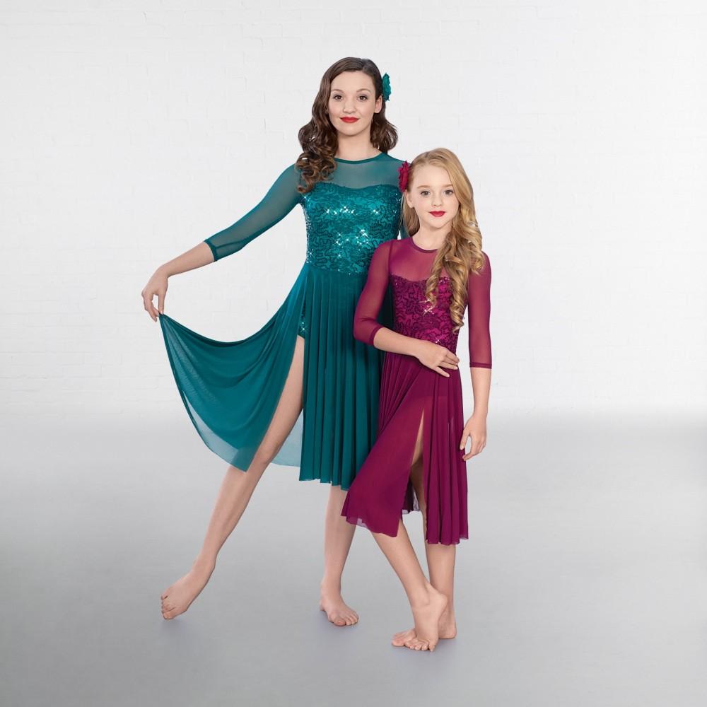 d1cc885079a76 1st Position Sequin Lace Crop Sleeved Lyrical - IDS: International ...