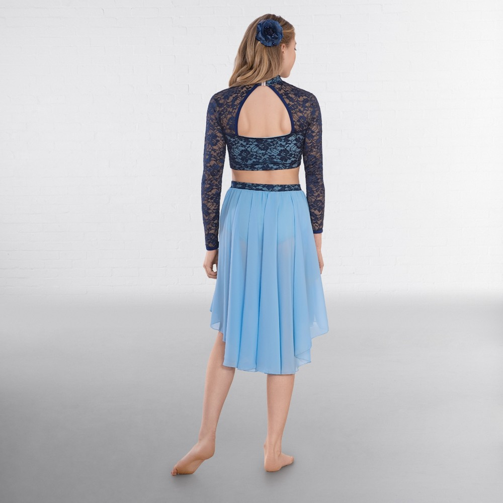 e0c06a6c547d37 1st Position Contrast Two-Tone Lace Top and Lyrical Skirt · Back. Available  colours