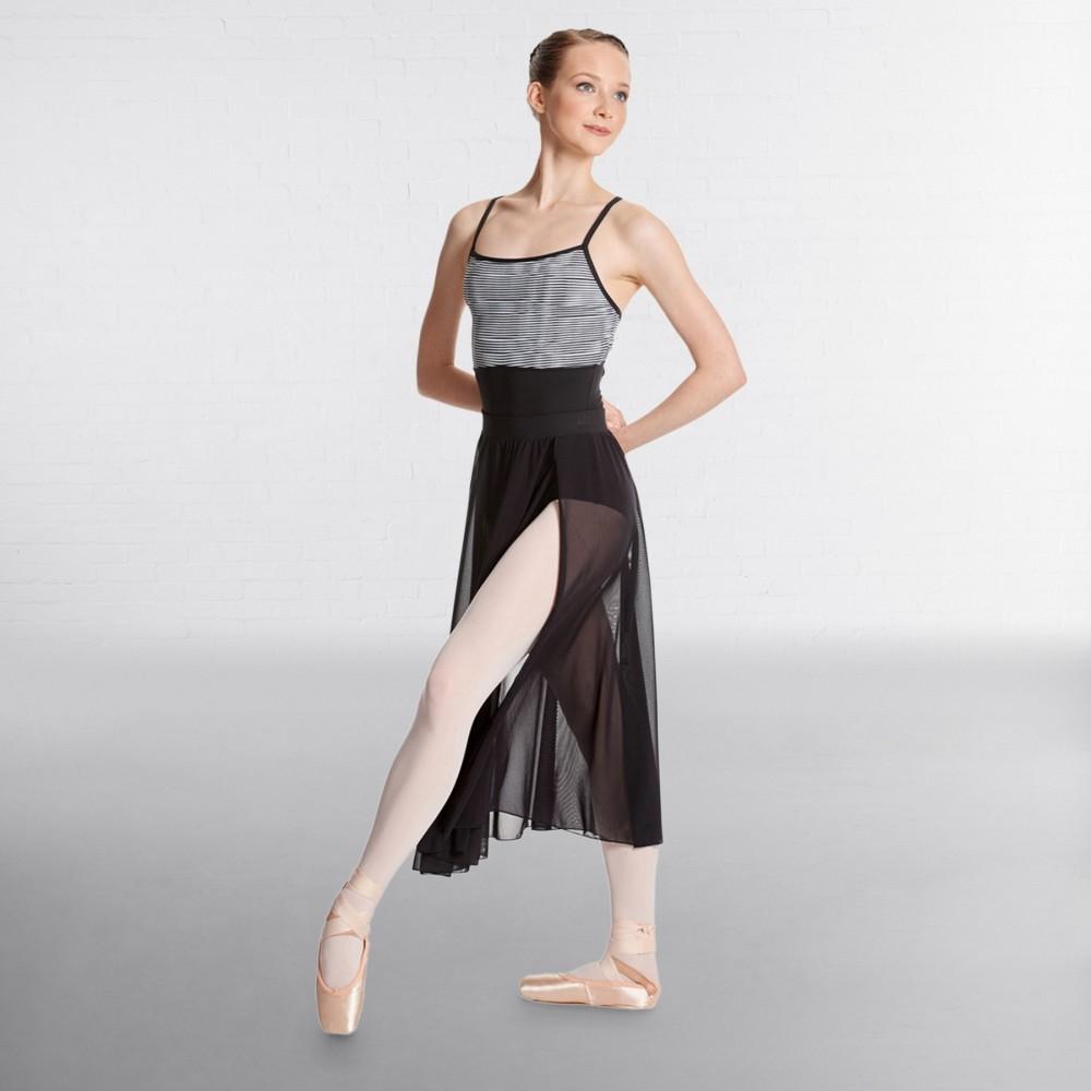 3cc579f33c Lulli Mesh Side slit Sheer Skirt Bella - IDS: International Dance ...