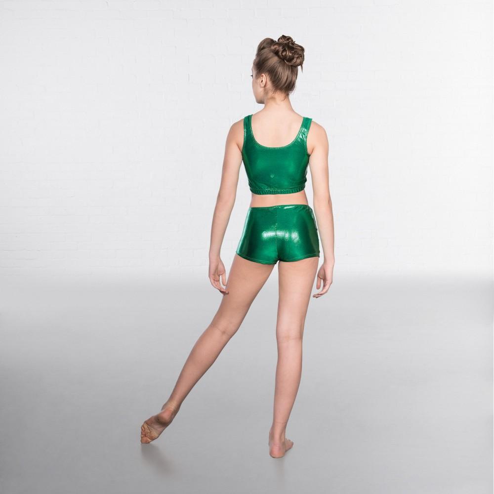 99b2a1d5e9b 1st Position Metallic Crop Top Emerald - IDS: International Dance ...