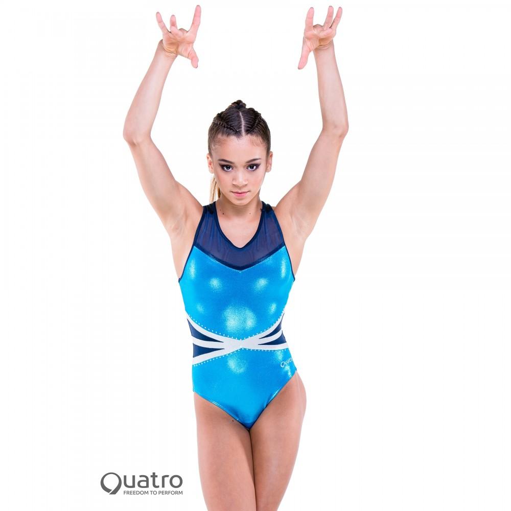 4181b4a52 Quatro Legend Racer Gymnastics Short Sleeve Leotard - IDS ...
