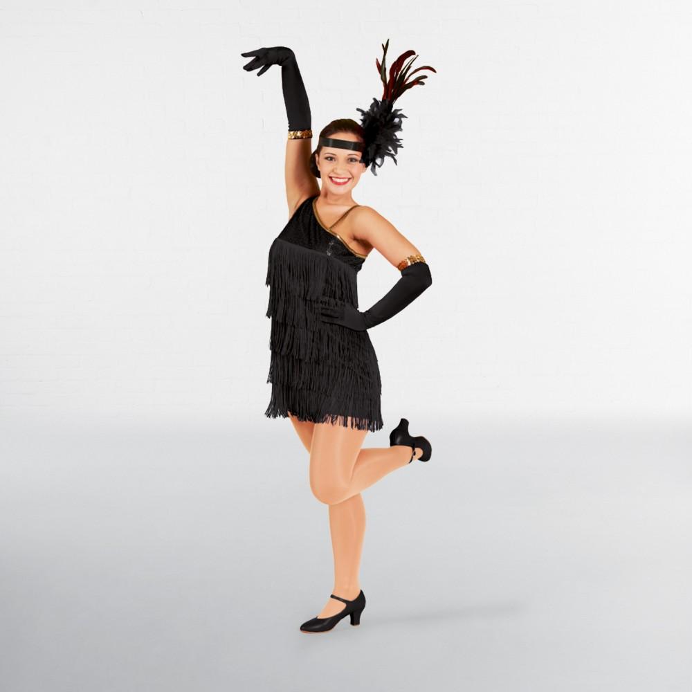 10deb243b6e6 Black Sequin Flapper Dress Adult One Size - IDS: International Dance ...