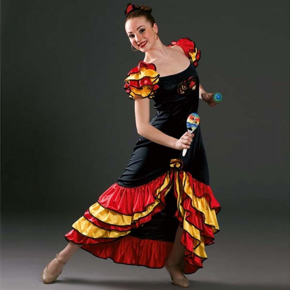 39d17c5546a0 Rumba Dress Adult One Size - IDS: International Dance Supplies Ltd
