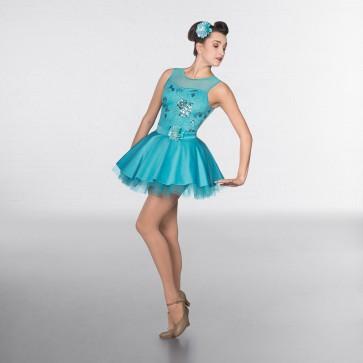 1st Position Sequin Flower Bodice Glitz Dress