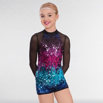 1st Position Ombré Sequinned Unitard