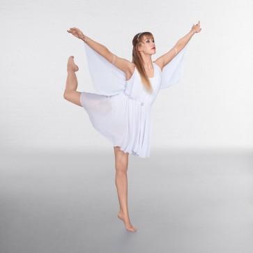 1st Position Lyrisches Neckholder-Kleid mit Flügeln