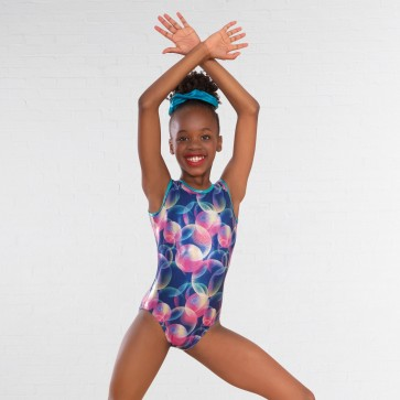 1st Position Pastel Bubble Print Sleeveless Leotard