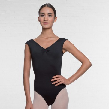 Cap Sleeve Pinch Back Leotard