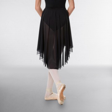 Lulli High-Low Ballet Mesh Skirt Lucrezia with Elastic Waistband