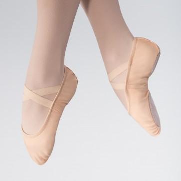 1st Position Split Sole Canvas 2 Way Stretch Ballet Shoe