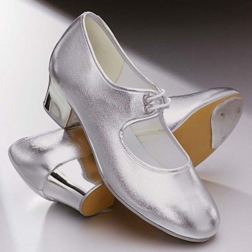 1st Position PU Cuban Heel Tap Shoes