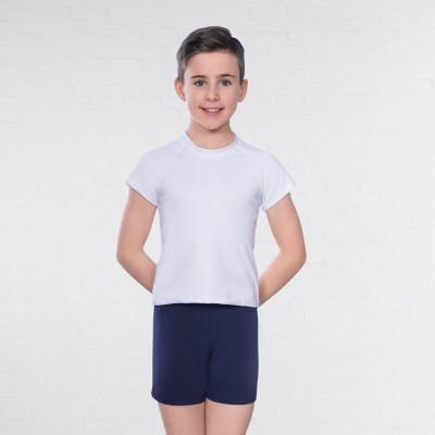 1st Position Male Raglan Sleeve Crew Neck T-Shirt (White)