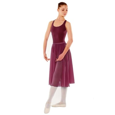 Little Ballerina RAD Approved Circular Poly Chiffon Skirt (Burgundy)