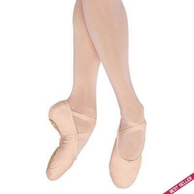 Bloch Pump Split Sole Canvas Ballet Shoe (Pink)