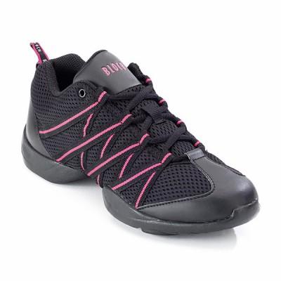 Bloch Criss Cross Mesh Sneakers (Black/Pink)