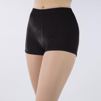1st Position Jenna Stretch Velour Shorts (Black)