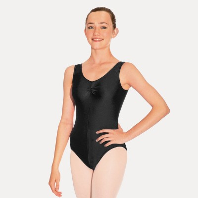 Roch Valley Sheree Sleeveless Ruched Leotard (Black)