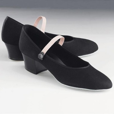 1st Position Cuban Heel Canvas Character Shoes