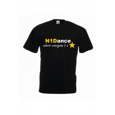 PP *#041035#* Fruit of the Loom Value T-Shirt (Black) with N1 Dance Logo