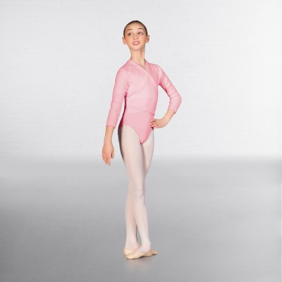 1st Position Long Sleeved Acrylic X-Over (Pale Pink)