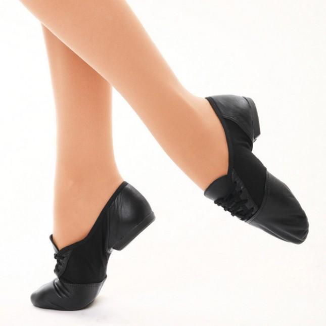 CAPEZIO 458 en daim noir SPLIT Semelle Danse Jazz Chaussures