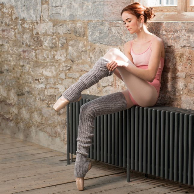Intermezzo Knitted Marl Legwarmers Pink/Grey Adult Medium