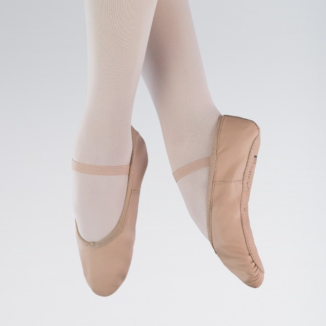 1st Position Leather Ballet Shoes (Pink)