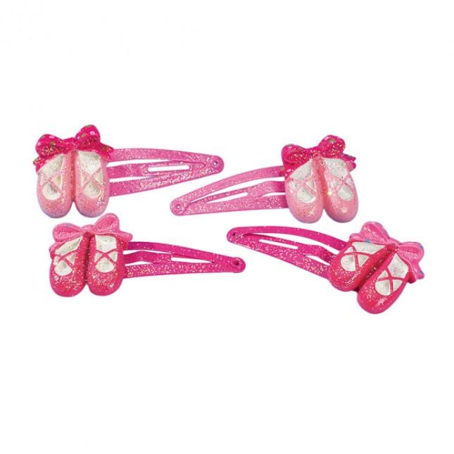 Katz Ballet Shoe Hair Snaps (Pack of 4)