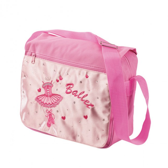 Katz Pale Pink Satin Ballet Satchel Bag