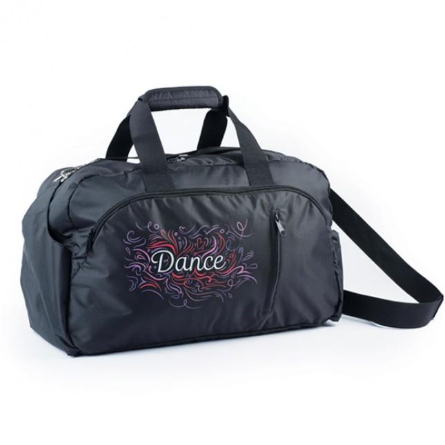"Black/Pink ""Dance"" Swirl Holdall"