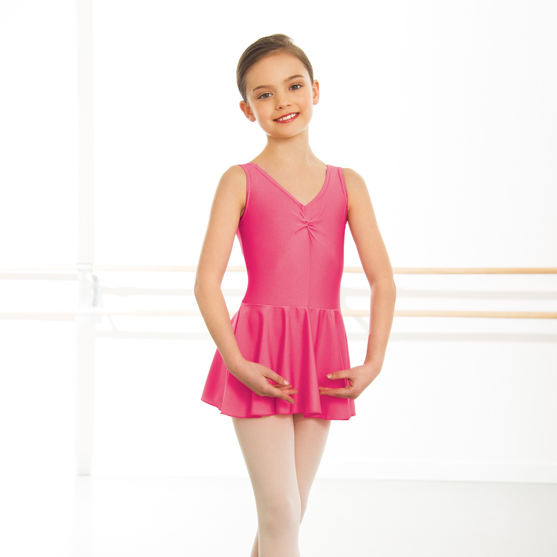 1st Position Amy Skirted Leotard  (Raspberry)