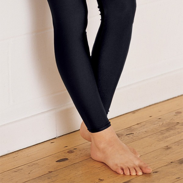 1st Position Footless Tights Nylon (Black)