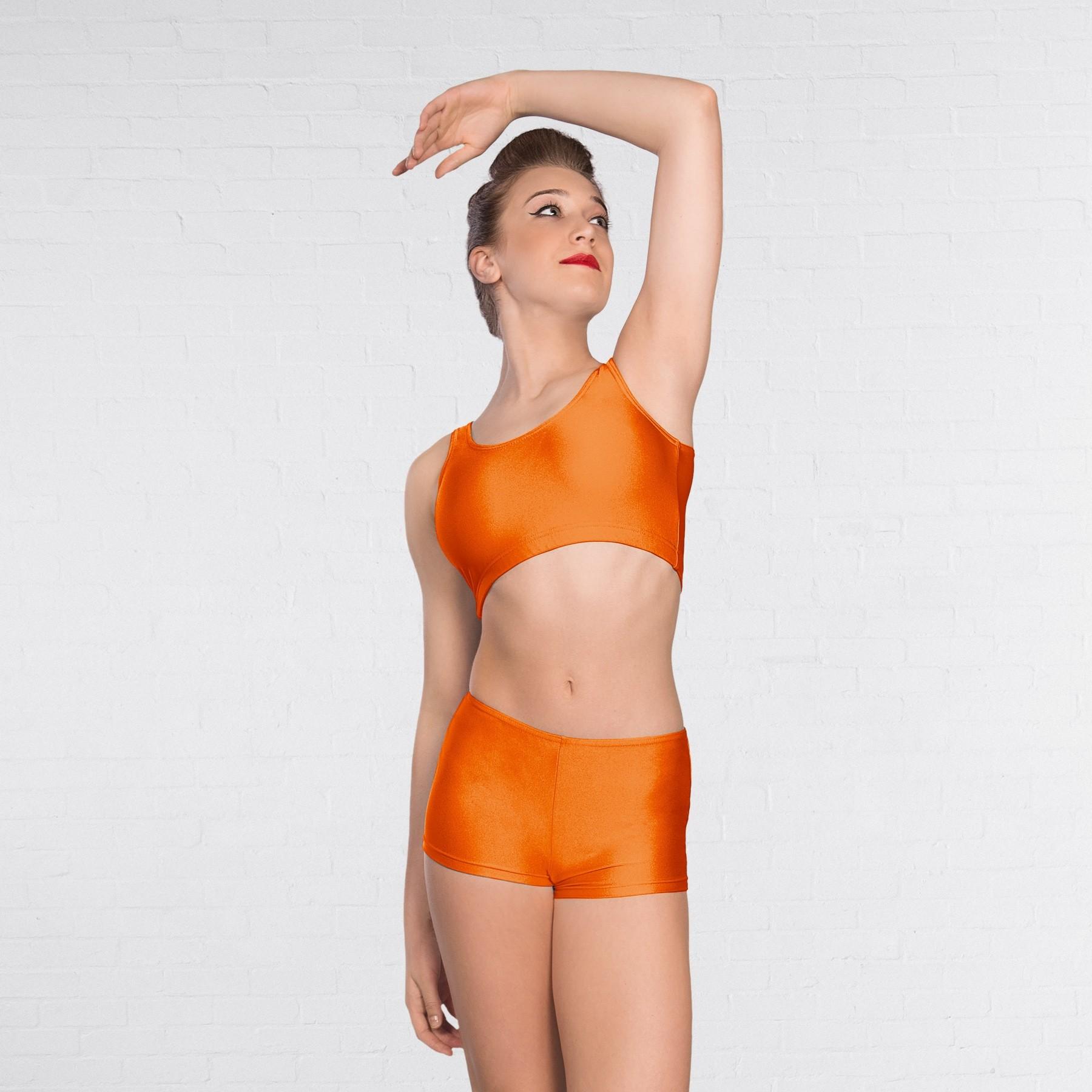 1st Position Hot Pants Nylon (Orange)