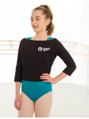 1st Position Boat Neck Warm Up Top with TNWD Performing Arts Logo