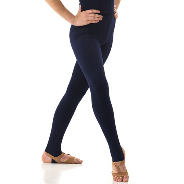 1st Position Stirrup Tights Cotton (Navy Blue)