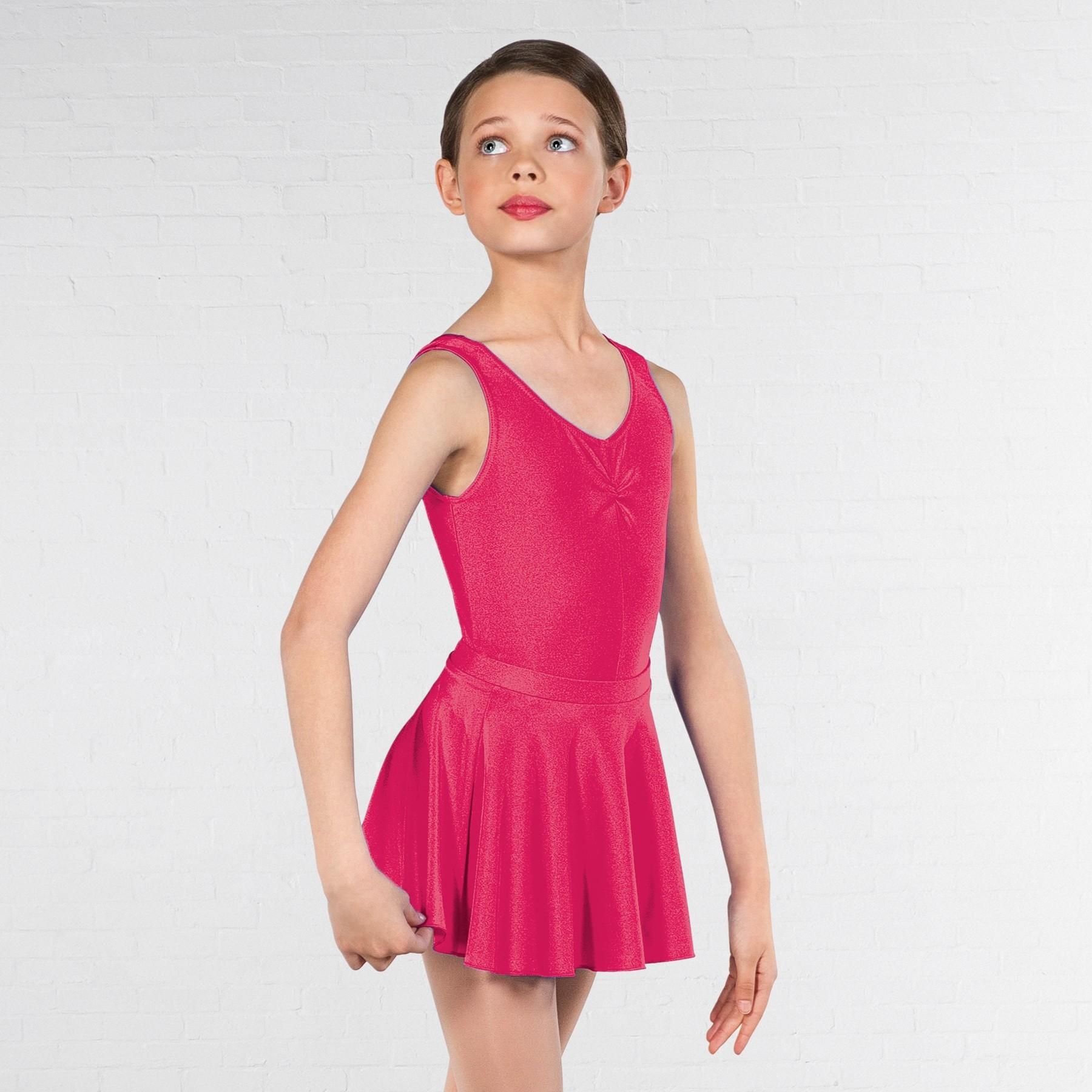 1st Position Circular Skirt (Cerise)