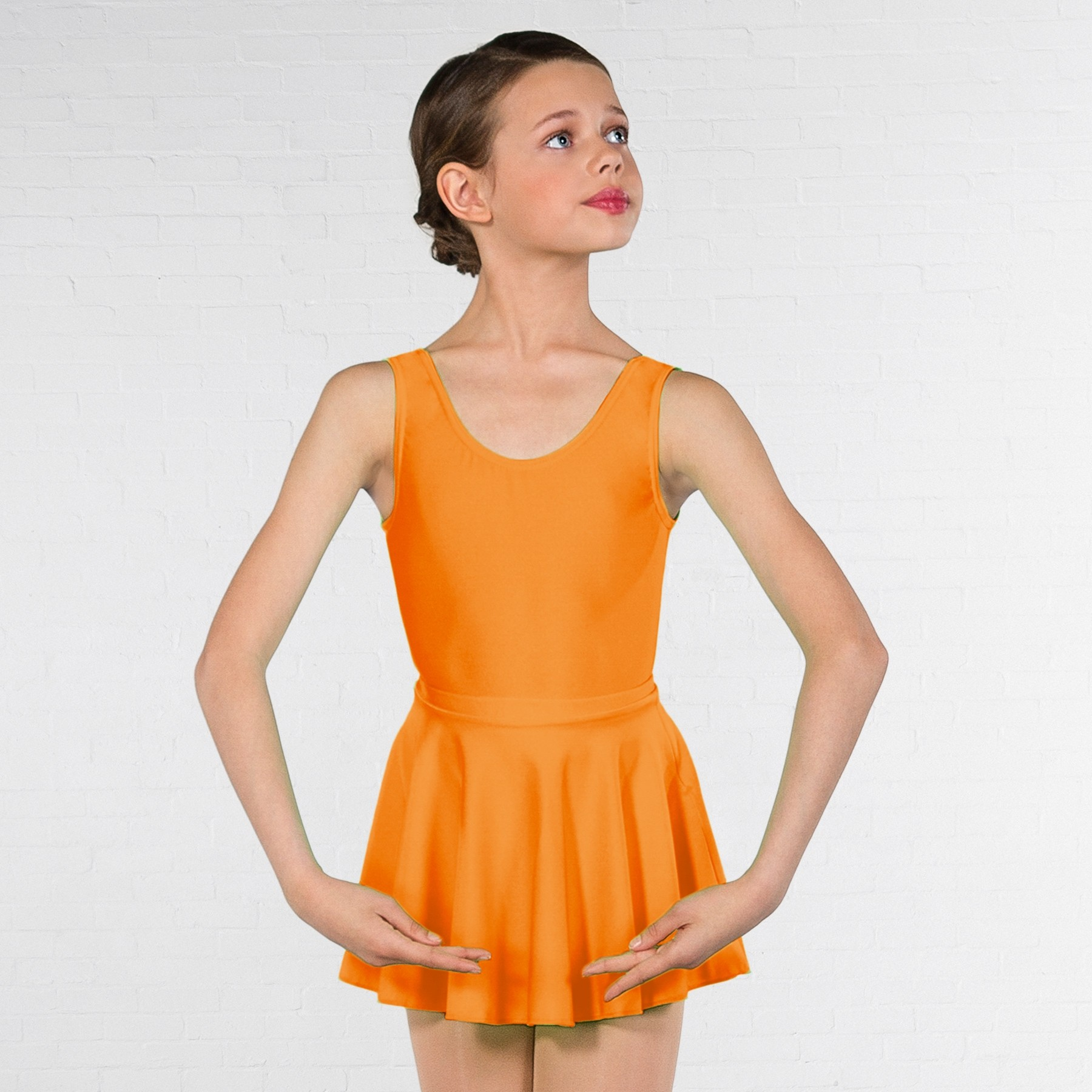 1st Position Circular Skirt (Flo Orange)