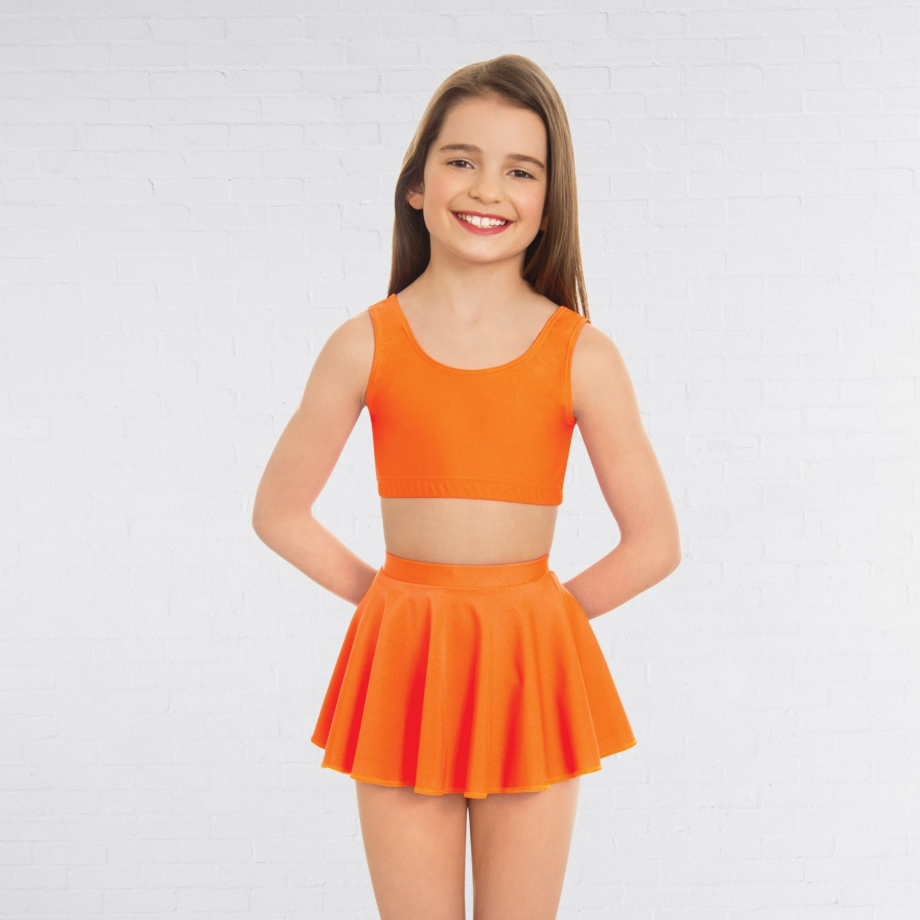 1st Position Circular Skirt (Flo Orange)