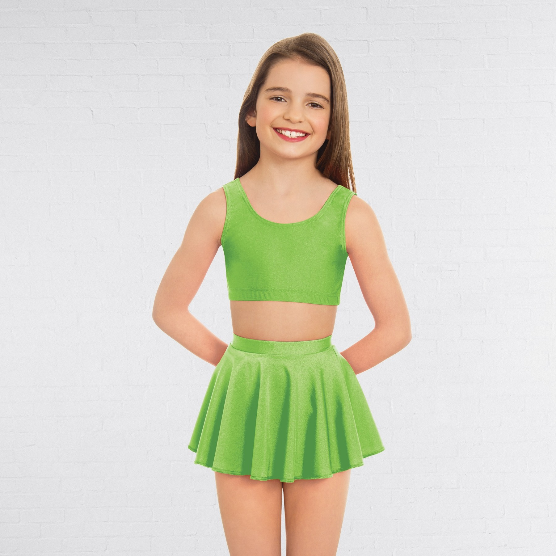 1st Position Circular Skirt (Flo Green)