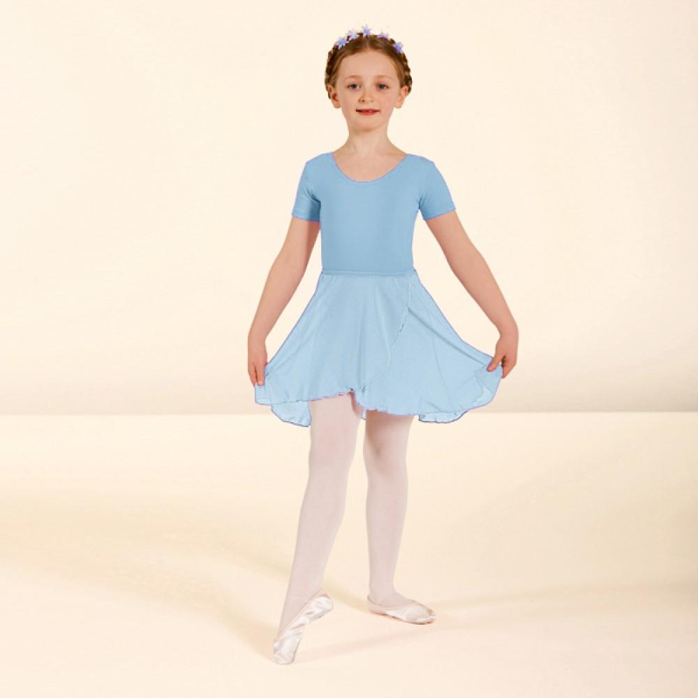 1st Position Wrapover Voile Skirt Pale Blue - Size 22/56