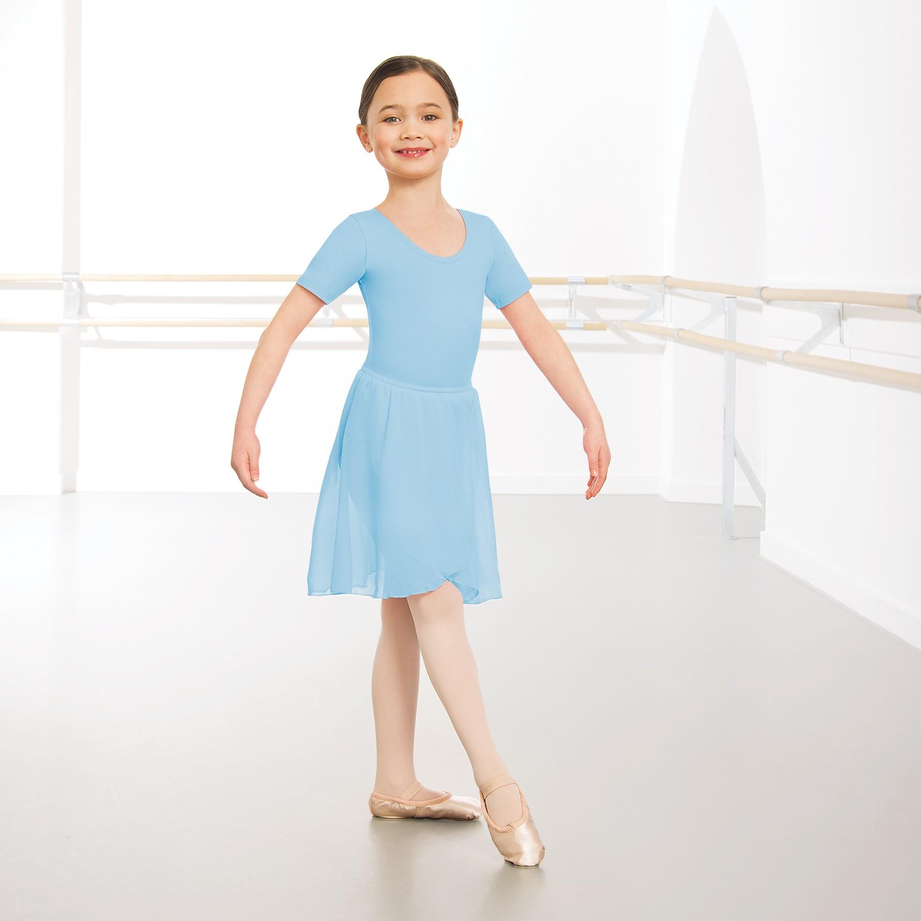 1st Position Wrapover Chiffon Skirt (Pale Blue)