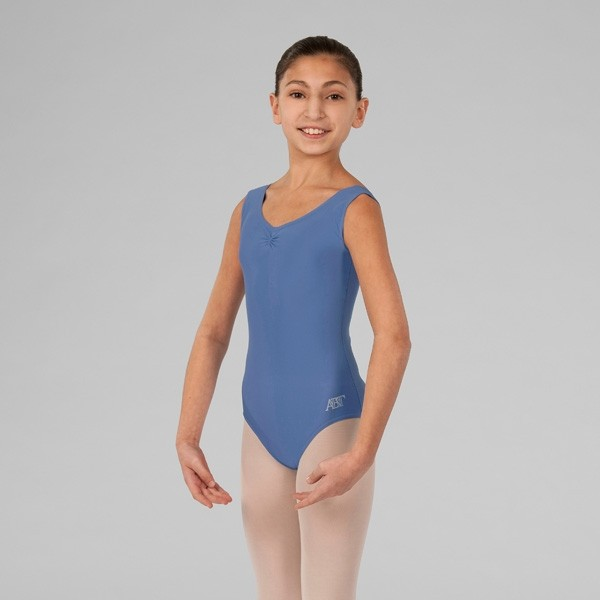 ABT Rebecca Levels 1/2/3 Sleeveless Lined Front Leotard (Bluebell)