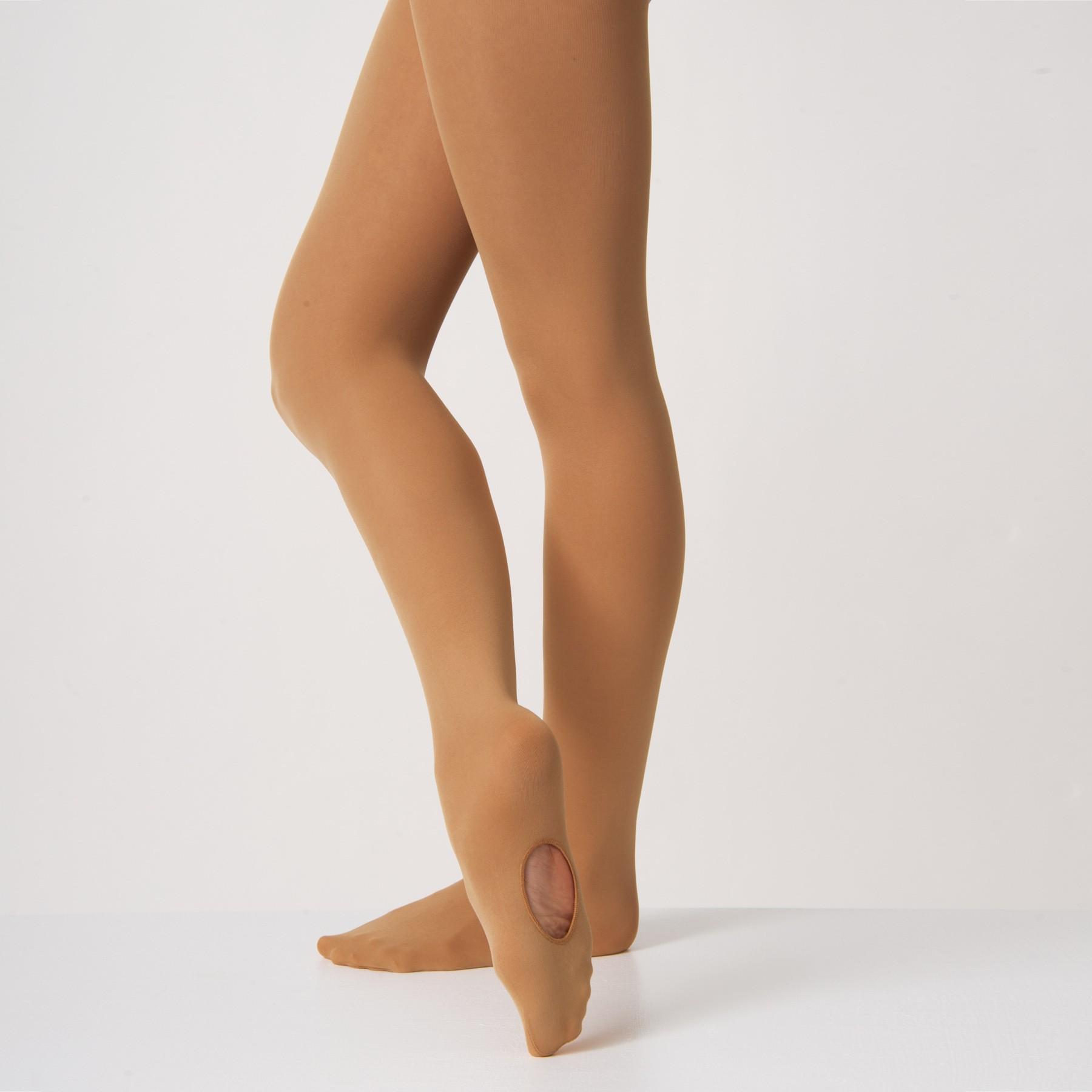 Silky Convertible Ballettstrumpfhose (Tan)