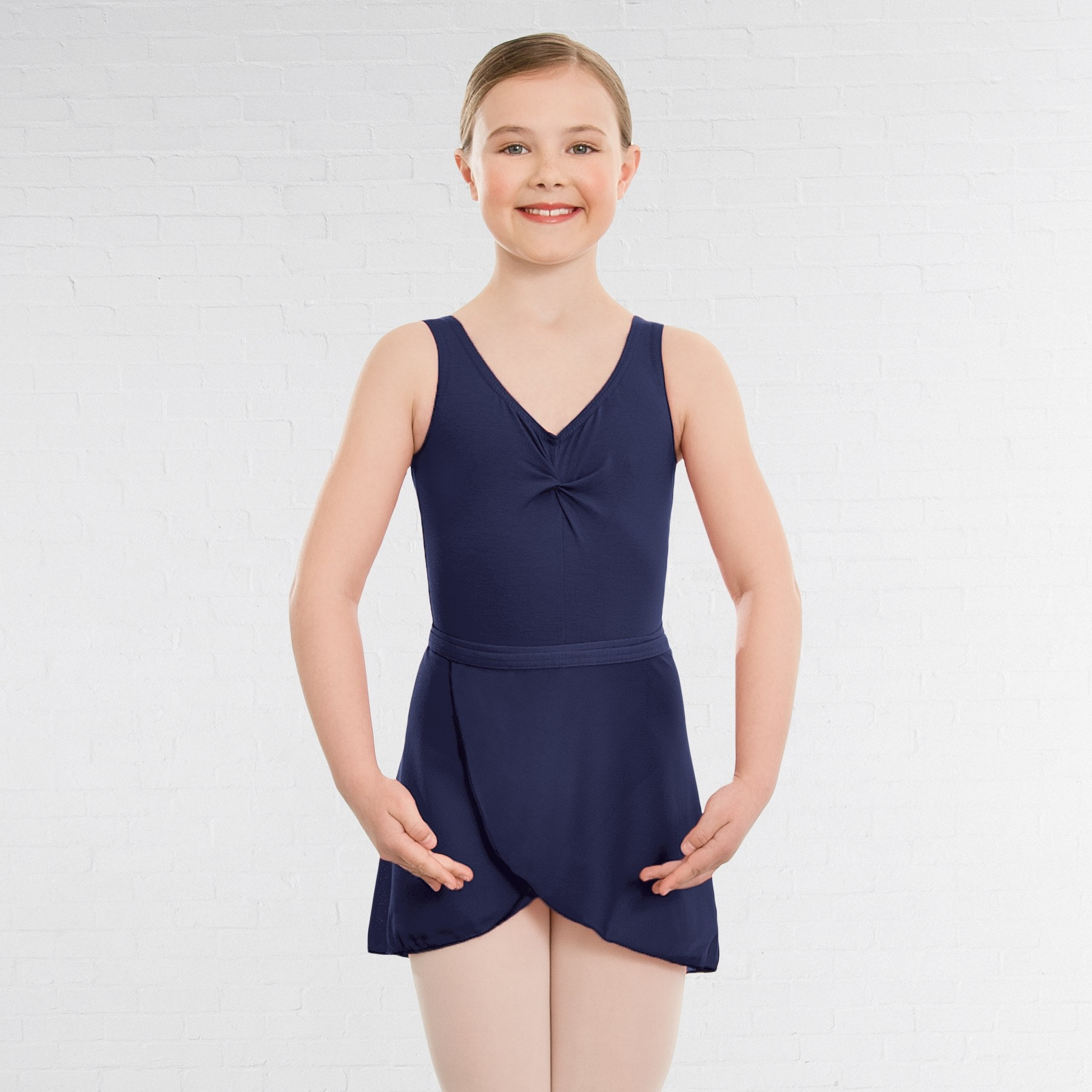 1st Position Wrapover Skirt (ISTD style) (Navy Blue)
