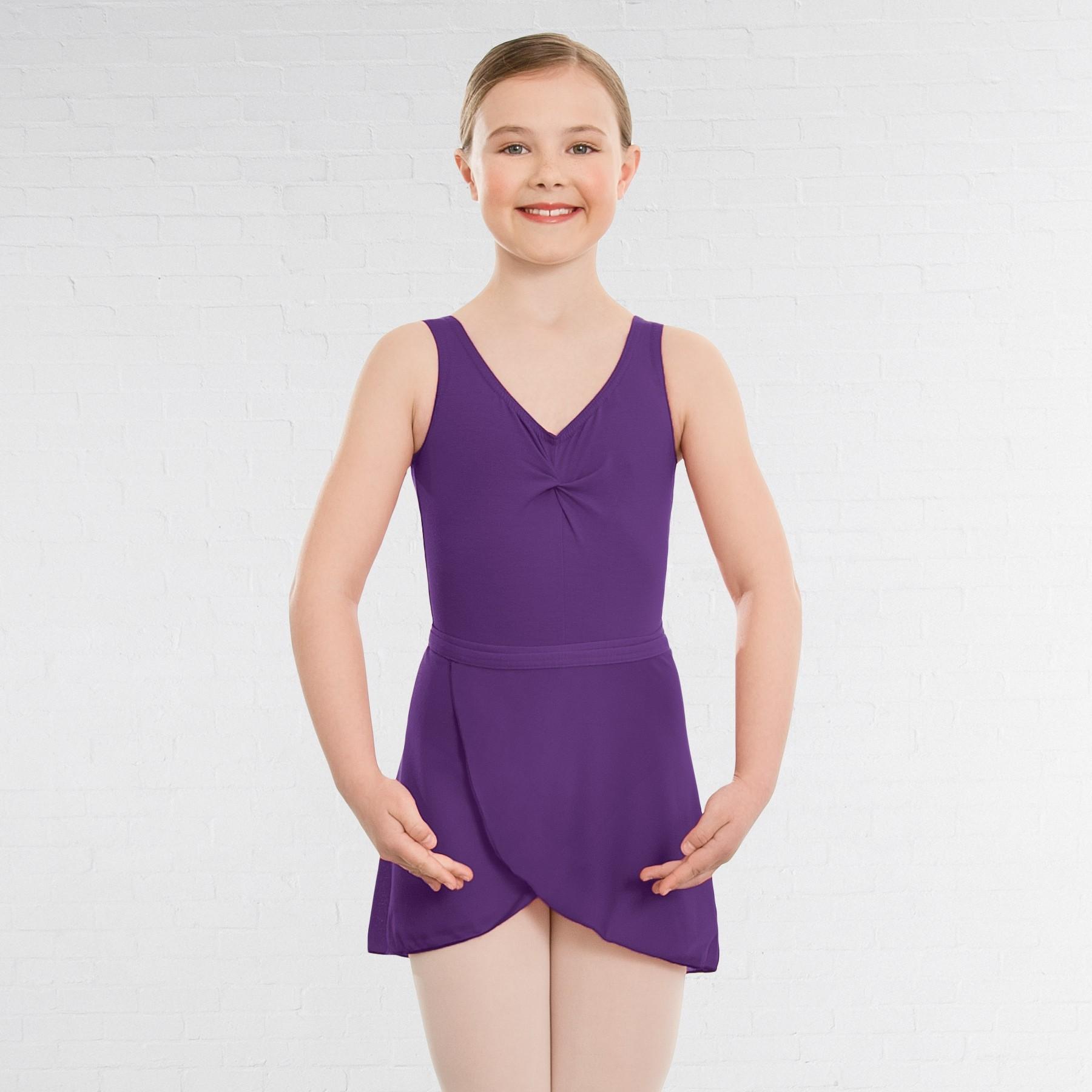 1st Position Wrapover Skirt (ISTD style) (Purple)