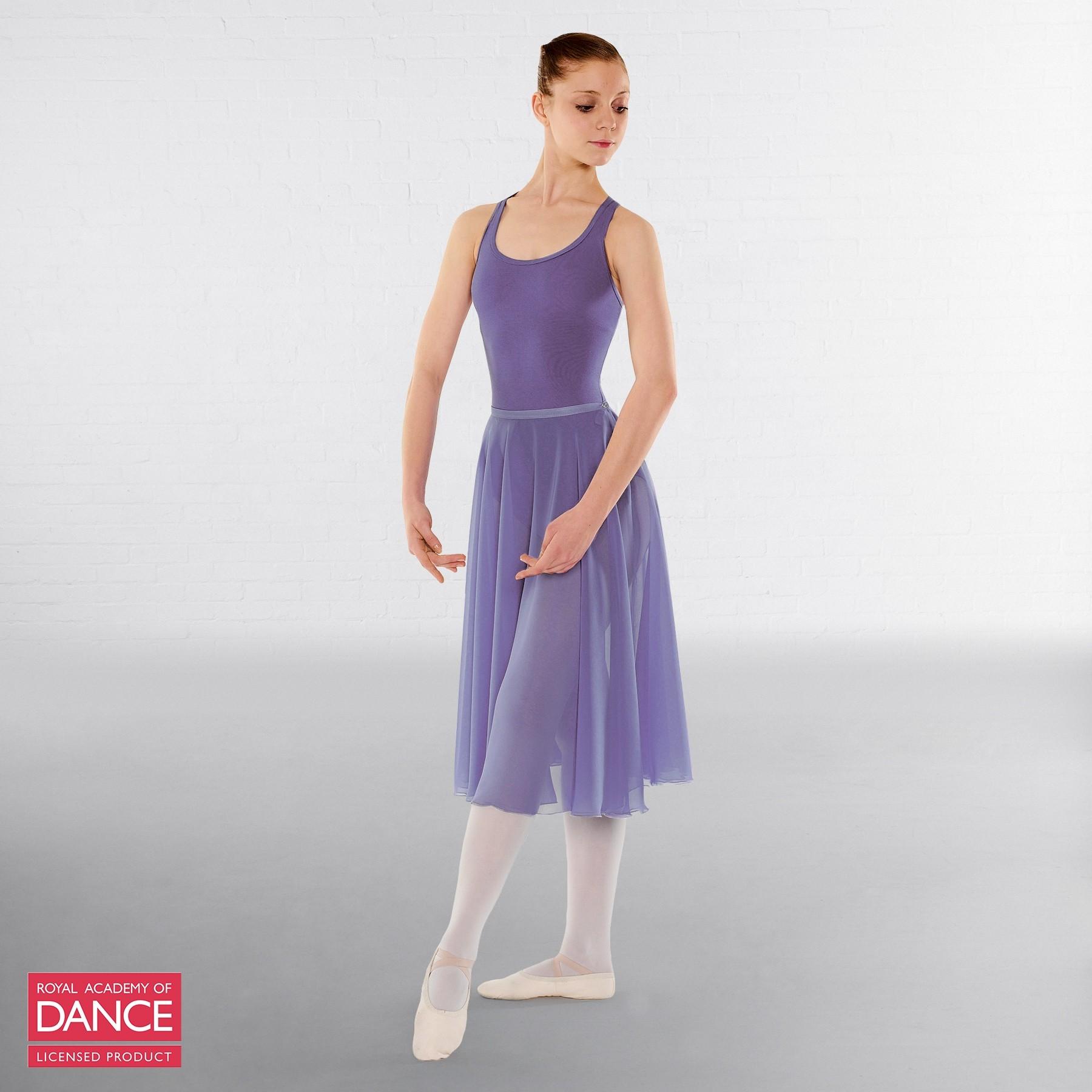 Little Ballerina RAD Approved Circular Poly Chiffon Skirt (Lavender)