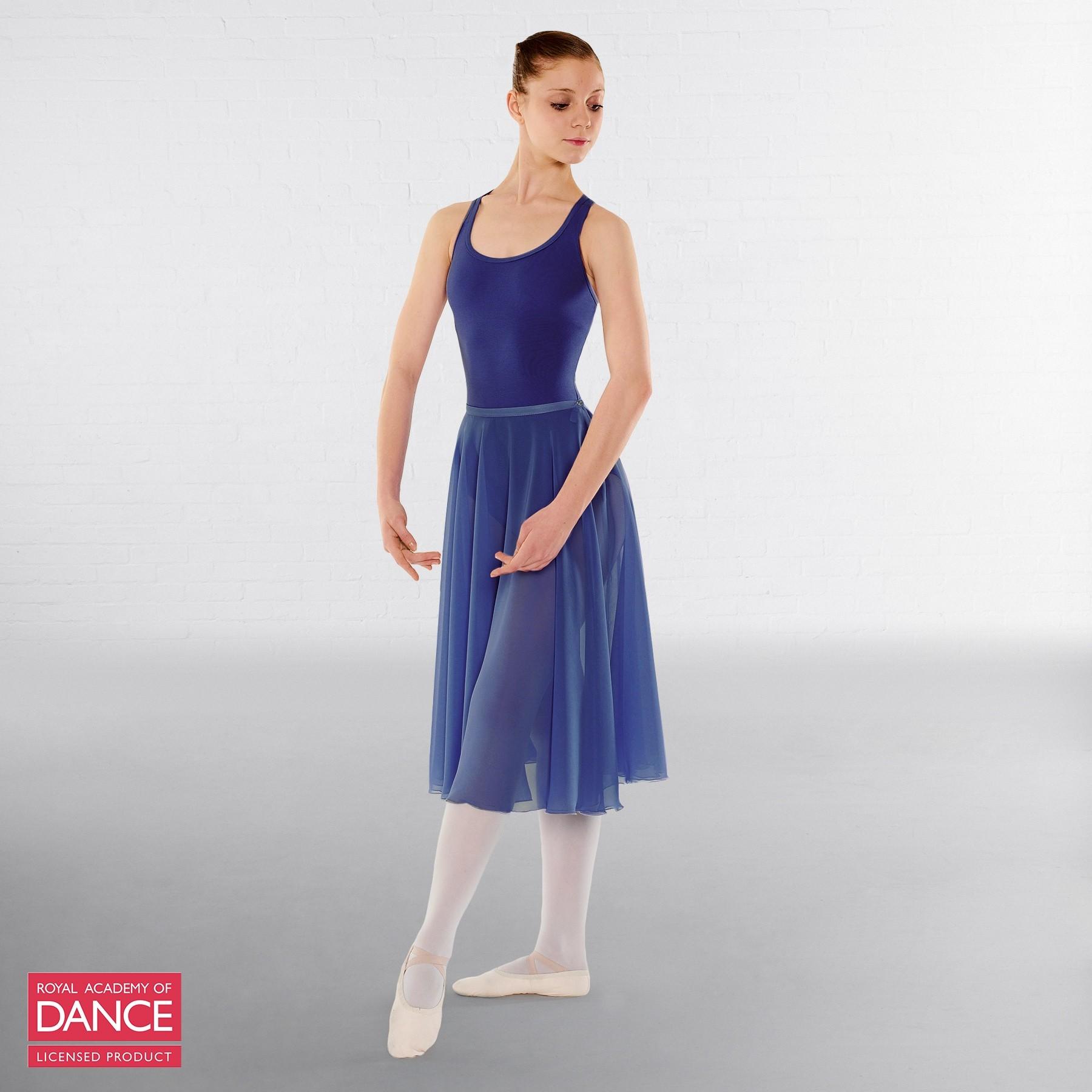 Little Ballerina RAD Approved Circular Poly Chiffon Skirt (Royal Blue)