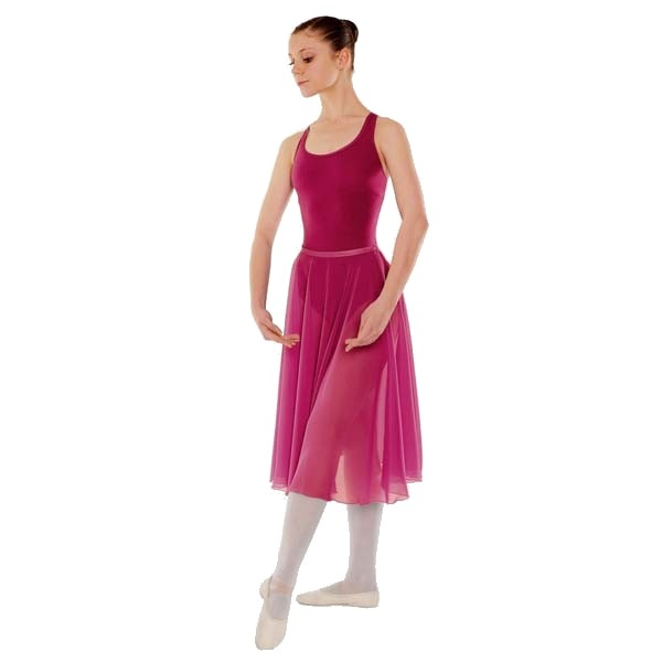 Little Ballerina RAD Approved Circular Poly Chiffon Skirt (Mulberry)